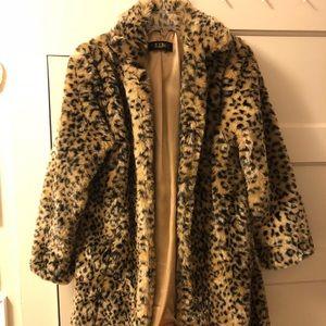 Jackets & Blazers - Faux Fur Leopard Coat